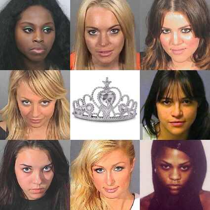 Lindsay Lohan, Paris Hilton, Nicole Richie, Alexis Neiers, Khloe Kardashian Odom, Michelle Rodriguez, Lil' Kim, Foxy Brown