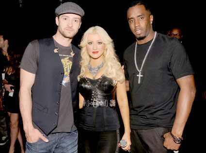 Justin Timberlake, Christina Aguilera, Sean 'Diddy' Combs