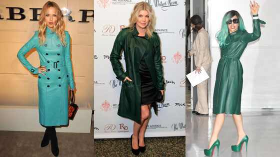 FASHIONS AND MODE: Make Others Green with Envy in a Leather Trench ...