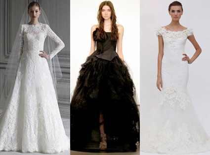 Monique Lhuillier, Vera Wang Fall 2012 Bridal Collection, Marchesa Bridal Gown