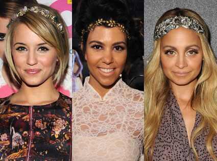 Dianna Agron, Kourtney Kardashian, Nicole Richie