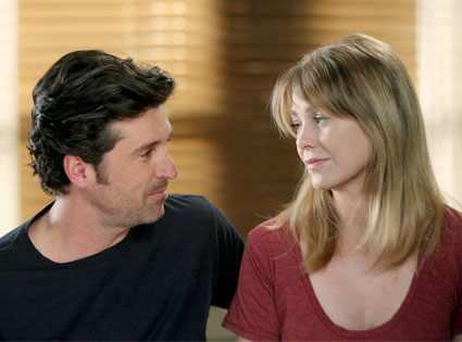 ellen pompeo and patrick dempsey kiss. Greys Anatomy, Patrick Dempsey