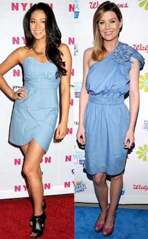 shay mitchell shoes. Shay Mitchell, Ellen Pompeo