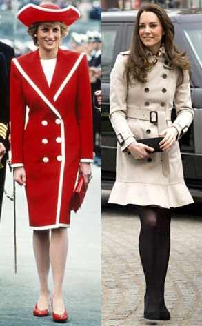 prince william and diana photos kate middleton red coat. Princess Diana, Kate Middleton