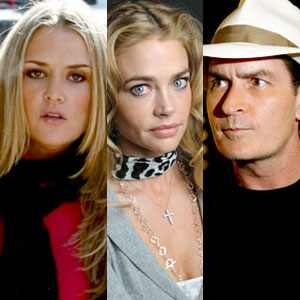 Charlie Sheen, Brooke Mueller, Denise Richards