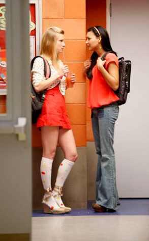 Heather Morris, Naya Rivera, Glee