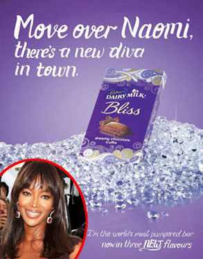 Cadbury Bliss Ad, Naomi Campbell