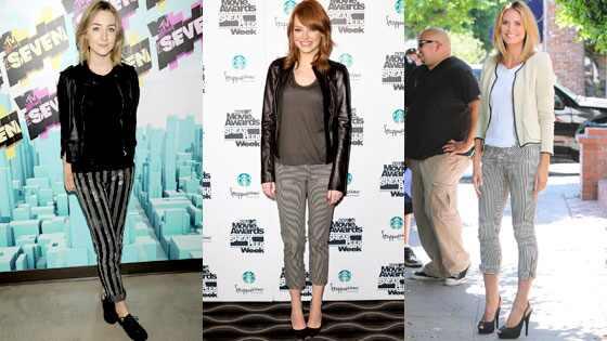 Saoirse Ronan, Emma Stone, Heidi Klum