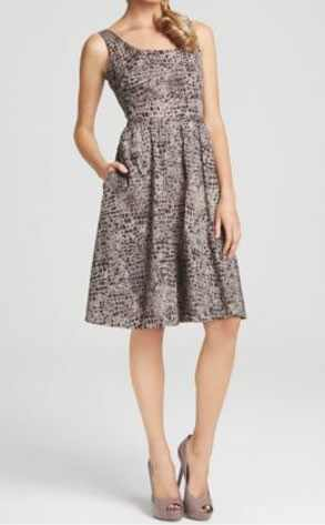 Calvin Klein Lizard A-Line Dress