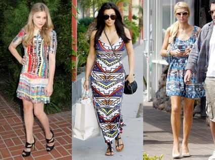 Chloe Moretz, Kim Kardashian, Paris Hilton