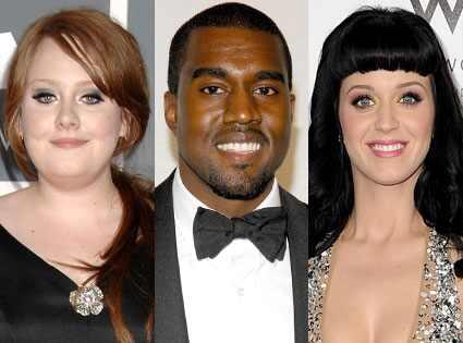 Katy Perry, Adele, Kanye West