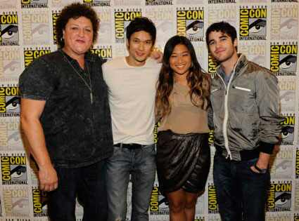 Glee Cast, Comic-Con, Jenna Ushkowitz, Dot Marie Jones, Harry Shum Jr., Darren Criss