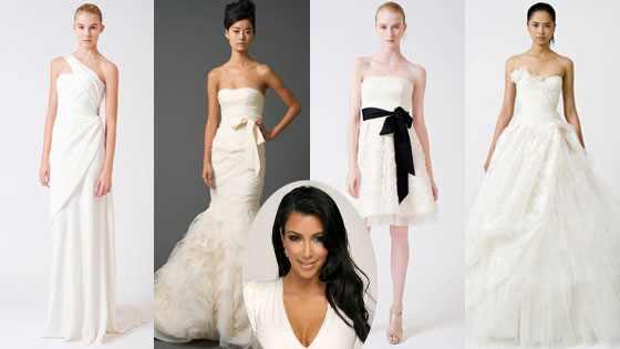 ¿Cuál de estos vestidos deberá usar Kim Kardashian en su boda?
