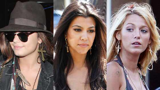 Blake Lively, Demi Lovato, Kourtney Kardashian