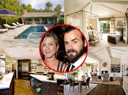 Jennifer Aniston, Justin Theroux, Estate