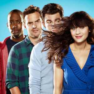 Lamorne Morris, Jake Johnson, Max Greenfield, Zooey Deschanel, New Girl, Cast