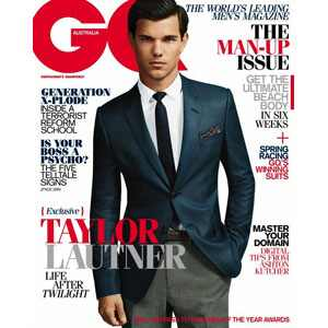 Provocative Taylor Lautner nude with cum -