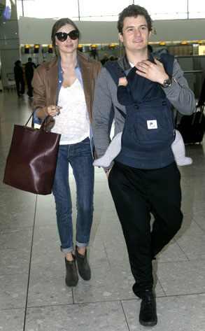 Miranda Kerr, Orlando Bloom, Flynn Bloom