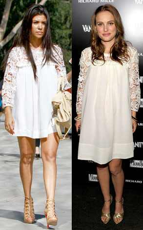 Kourtney Kardashian, Natalie Portman