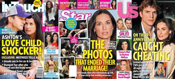Demi Moore, Ashton Kutcher Magazine Covers