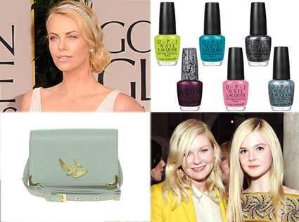 Charlize Theron, ASOS bag, OPI nail polish, Elle Fanning, Kirsten Dunst