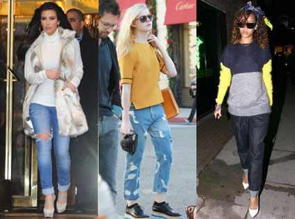 Boyfriend jeans secret: Elle Fanning, Kim Kardashian, Rihanna