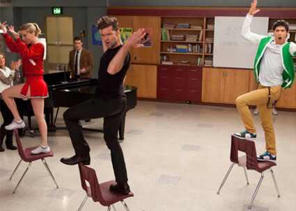 Heather Morris, Ricky Martin, Harry Shum Jr, Glee