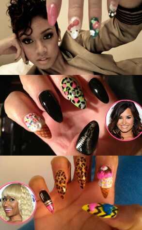 Kandi, Demi Lovato, Nicki Minaj, Nails