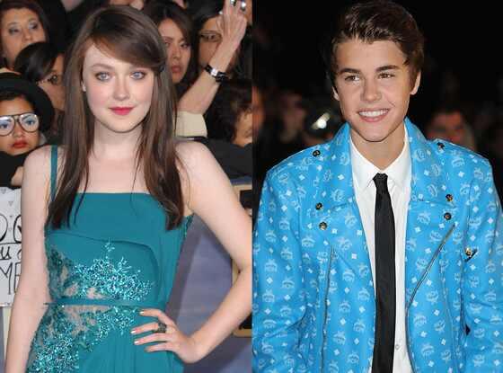 Dakota Fanning, Justin Bieber