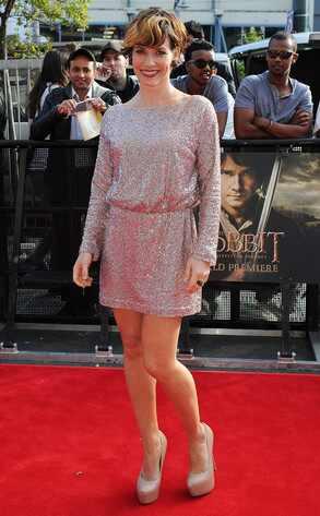 Evangeline Lilly cambia radicalmente de look para la premier de El Hobbit