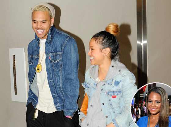 Chris Brown, Karrueche Tran, Christina Milian