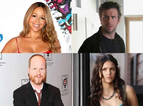 Mariah Carey, Nina Dobrev, Vampire Diaries, Jack Davenport, Smash, Joss Whedon