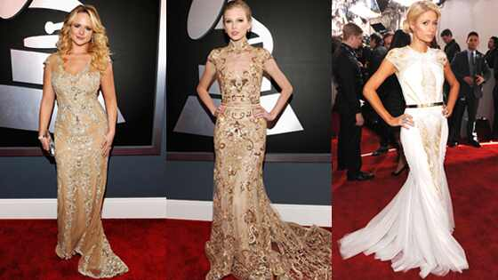 Grammys Gold Dresses 3-split Lambert/Swift/Hilton