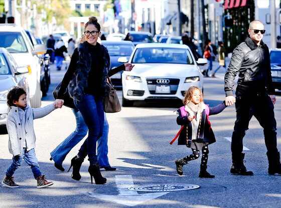 Jennifer Lopez, Casper Smart, Emme, Max