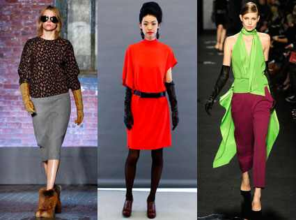 Leather gloves NYFW trend