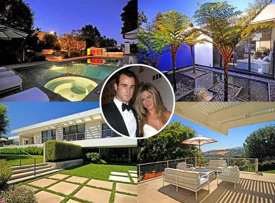 Jennifer Aniston, Justin Theroux Beverly Hills Home, Exterior