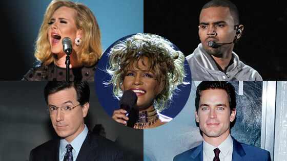 Whitney Houston, Adele, Chris Brown, Stephen Colbert, Matt Bomer