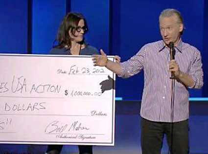 Maher With Obama's Check