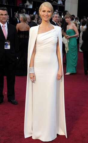 Gwyneth Paltrow, Oscars 2012, White Cape, Tom Ford