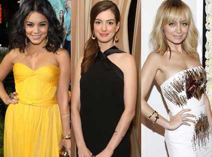 Nicole Richie, Anne Hathaway, Vanessa Hudgens