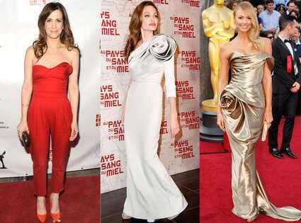 Kristin Wiig, Angelina Jolie, Stacy Keibler, Rosettes