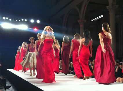 L.A. Fashion Week Red Dress Fashion Show