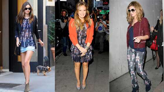 Hillary Duff, Miranda Kerr, Cheryl Cole
