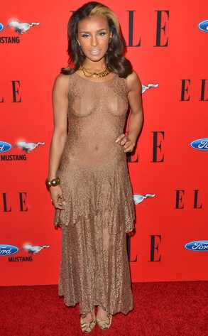 Melody Thornton, ex-pussycat doll, Sheer dress,