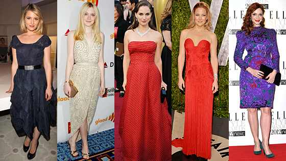 Dianna Agron, Dakota Fanning, Natalie Portman, Kate Hudson, Christina Hendricks