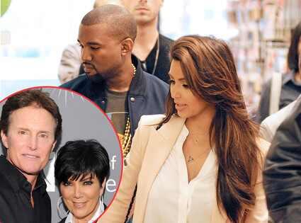 Kanye West, Kim Kardashian, Bruce Jenner, Kris Jenner