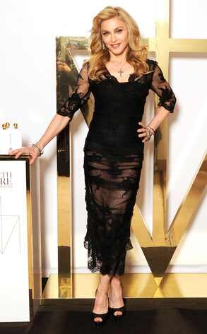 Madonna, Sheer dress, Dolce & Gabanna