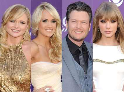 Country cutie and perpetual crossover fave Carrie Underwood led the way