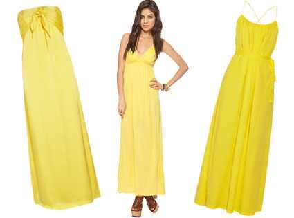 Yellow Dresses Collage