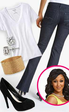 Tamera Styles White Shirt and Jeans